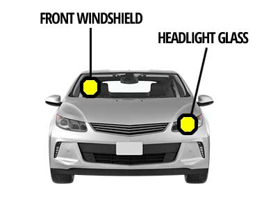 Front Windshield and Headlight Glass Replacement