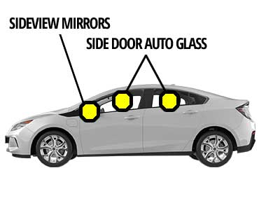Side Door Glass and Sideview Mirror Glass Replacement Service